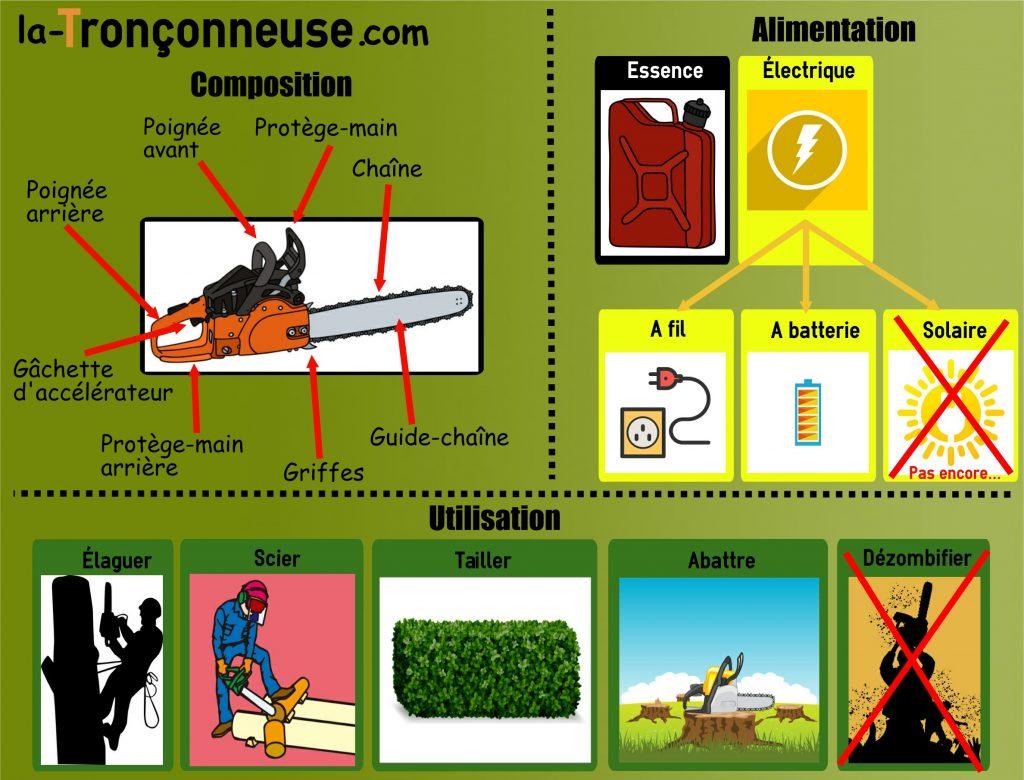 Infographie sur la tronçonneuse