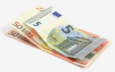 Billets de 50 et 5 euros