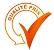qualité prix sur symbole validé orange